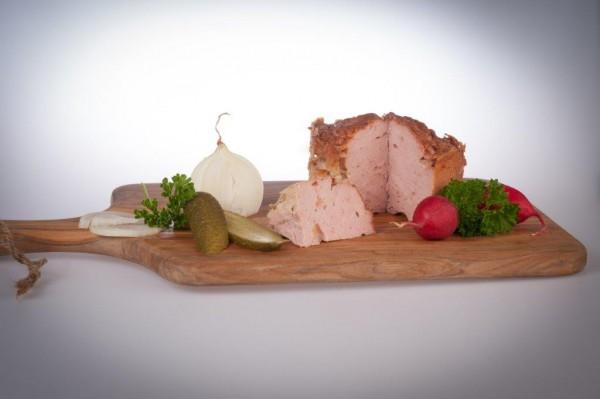Gebackener Fleischkäse in der Dose